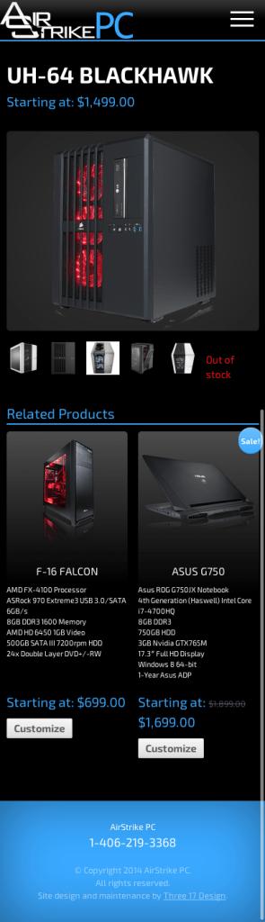 Custom Web Design for E-commerce PC Business
