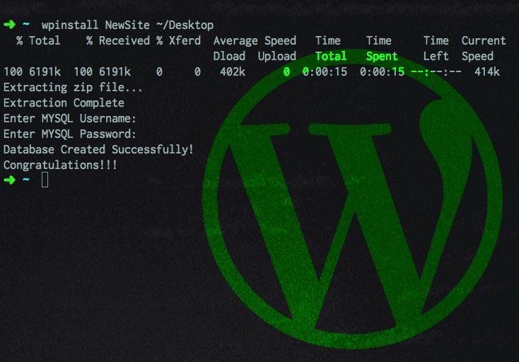 Automatically Install Wordpress Locally