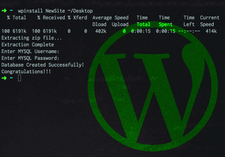 Local WordPress Installation Automated