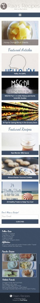 Raias Recipes - Mobile Friendly WordPress Blog Custom Design 2