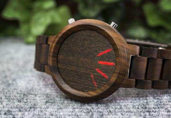 Kisai Blade Wood LED Watch
