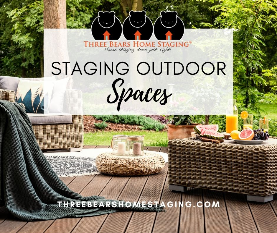 outdoor staging ideas