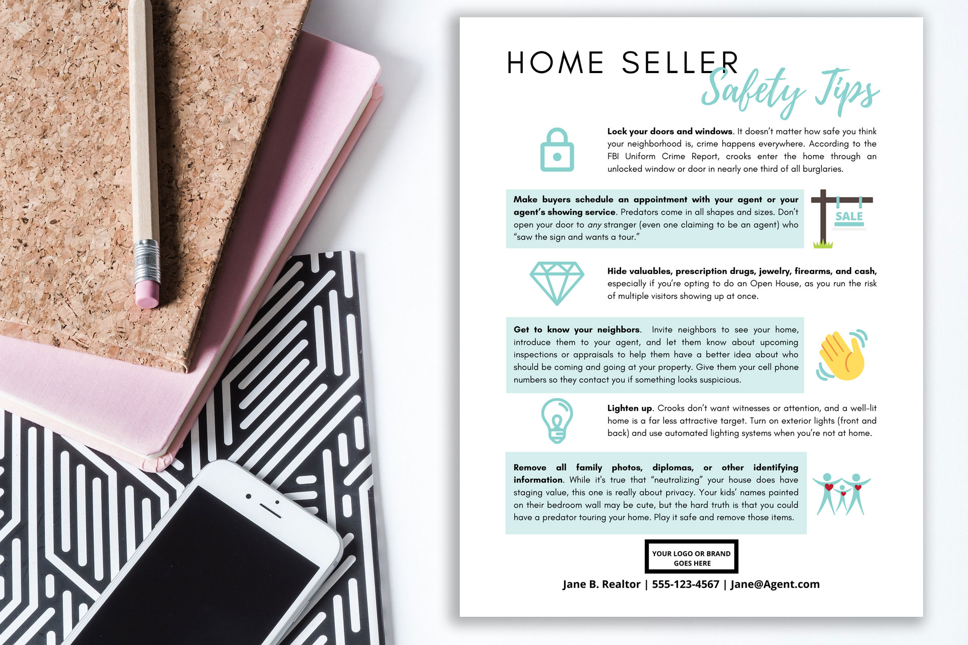 Safety Tips For Home Sellers Template For Canva Three Bears Home Staging