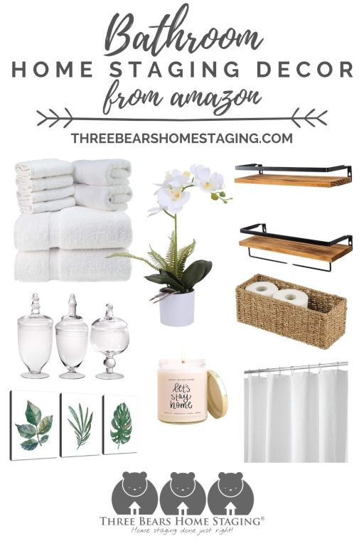 bathroom home staging decor