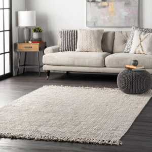 Off White Chunky Loop Area Rug