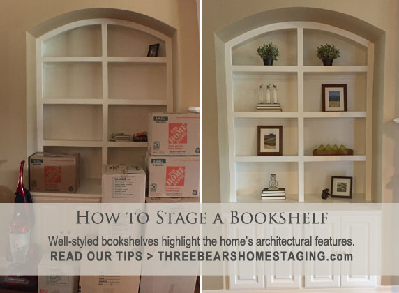 How to Stage a Bookshelf
