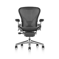 White Aeron Chair Sport Brella Three Chairs