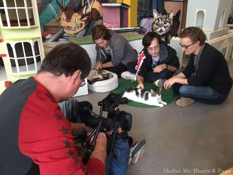 behind the scenes look of filming