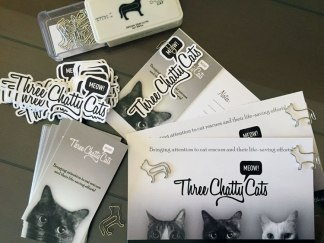 Three Chatty Cats marketing materials