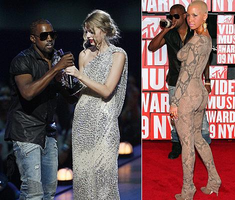 Kanye dissing Taylor; Amber Rose dissing snakeskin