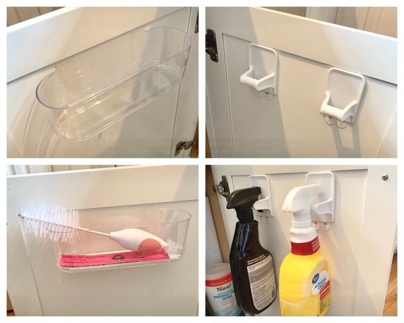 kitchen sink cabinet door storage solutions