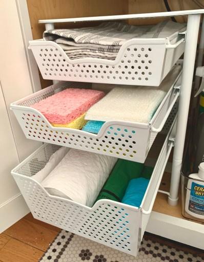 under-the-sink drawer organizer