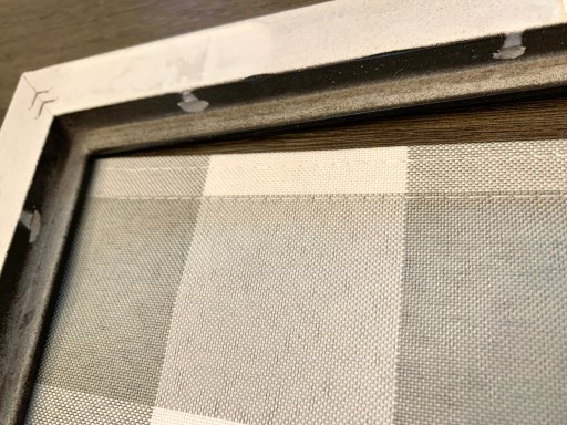 taking out the tabs inside the frame