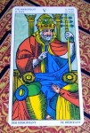The Hierophant card from the Universal Tarot of Marseille. ©Lo Scarabeo.