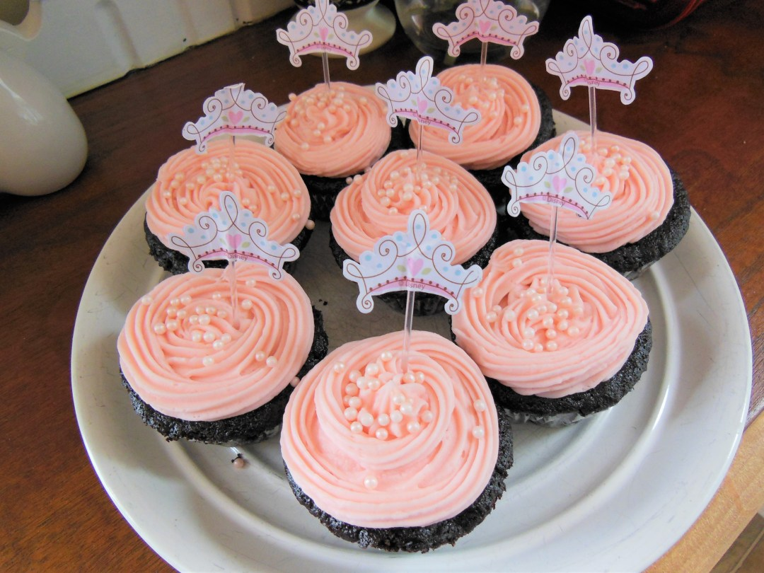 Vintage Princess Party - Chocolate Buttercream Cupcakes