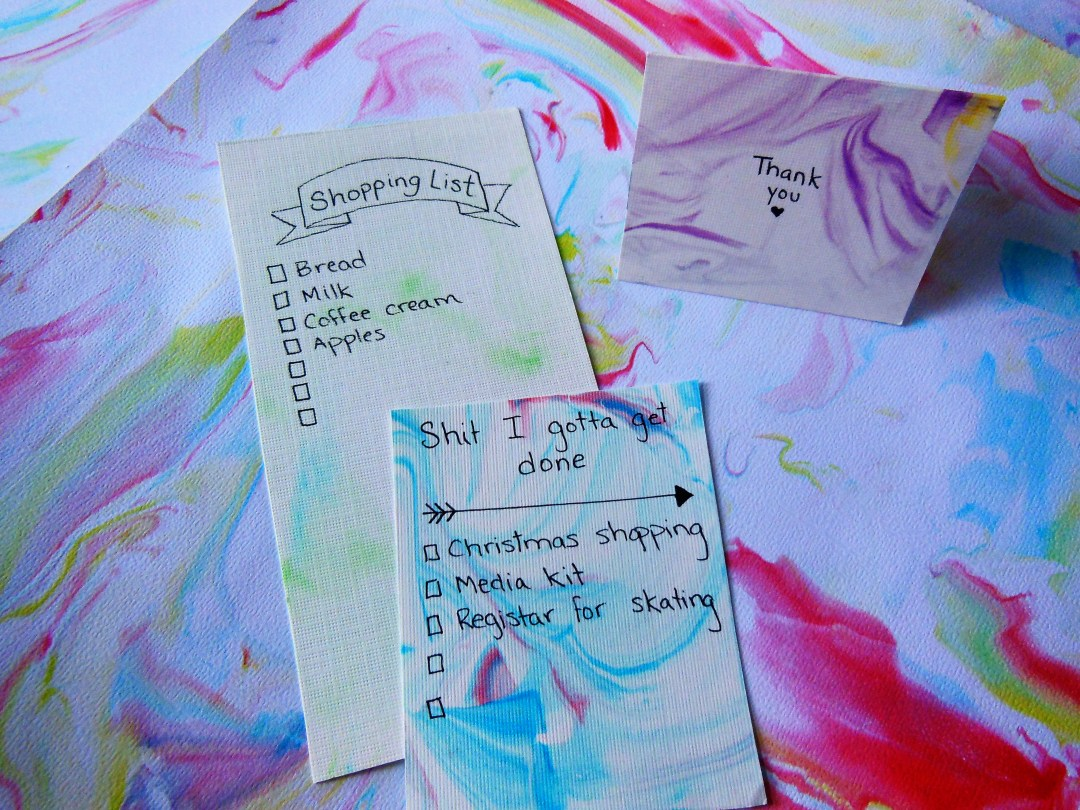 Handcrafted Marble Paper - Lists