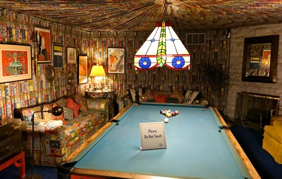 The pool room at Graceland