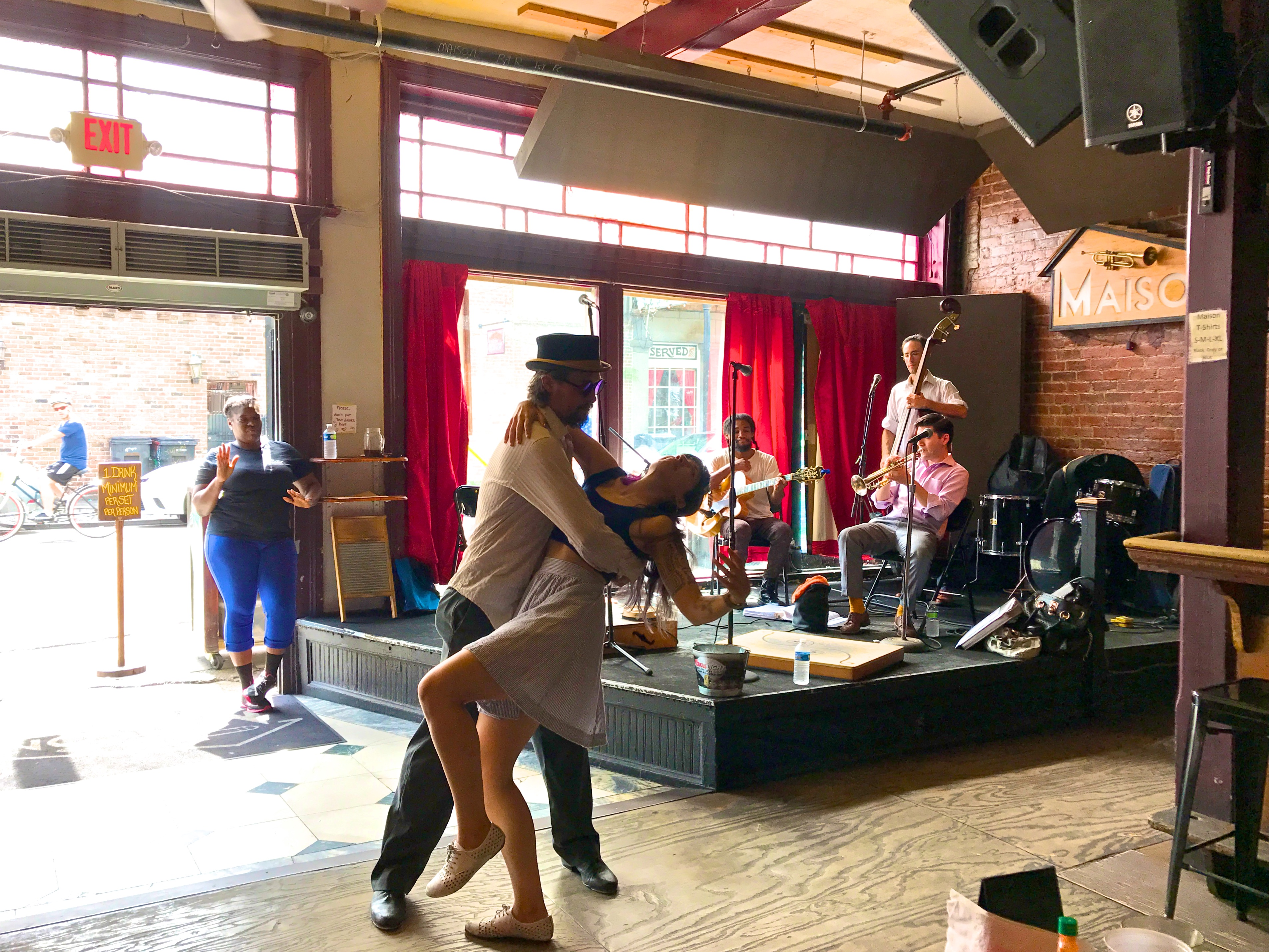 Dancing the lindyhop at Maison, New Orleans