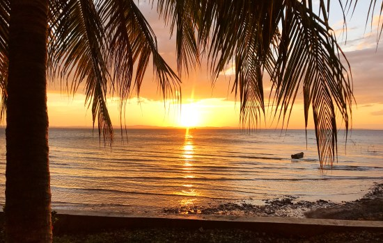 One of the beautiful sunsets on Ometepe