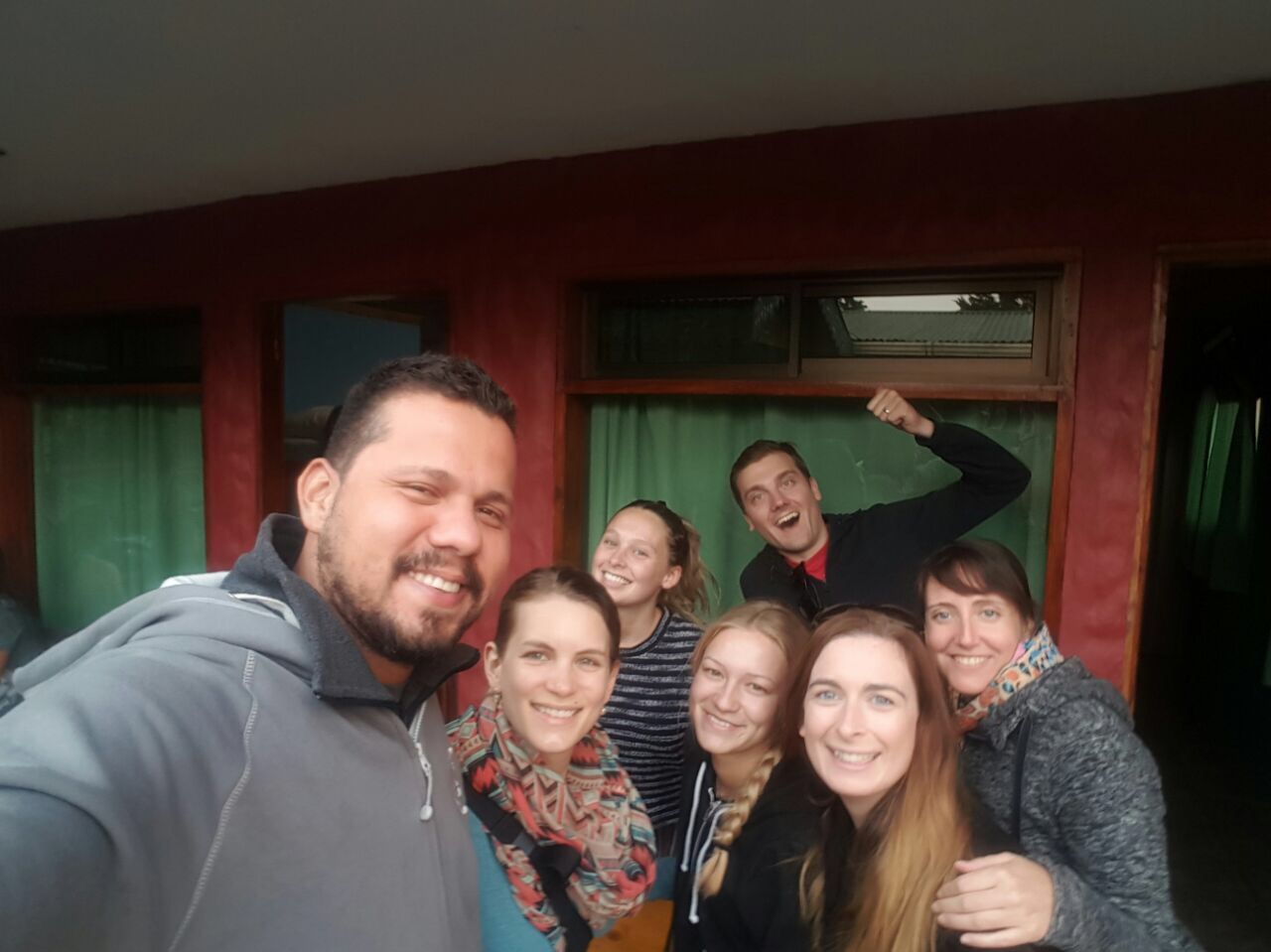 Some of our group in chilly Monteverde