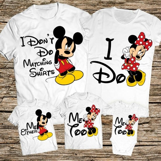13 Cute And Funny Matching Disney Family Shirts September 2020