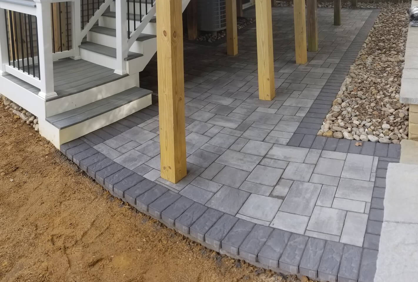 crofton maryland back yard paver patio