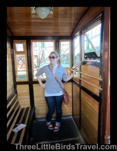 Me riding in the funicular - Budapest, Hungary! Sisters Trip 2012