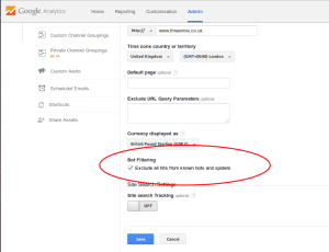 Google Analytics Bot Filters