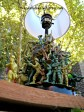 lamp upcycled with plastic army men
