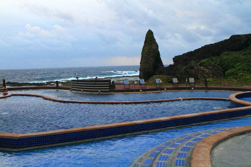 Salt water hot spring, 3 in the world - Taiwan