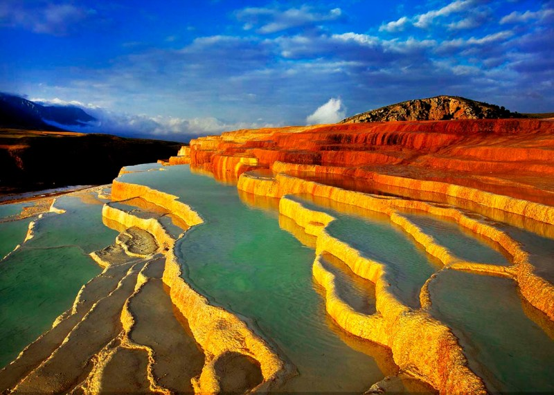 Colourful Badab-e Surt Iran nature
