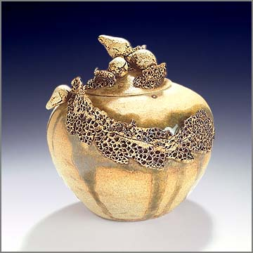 Seaweed Covered Jar by Linda Whitefeather Spears