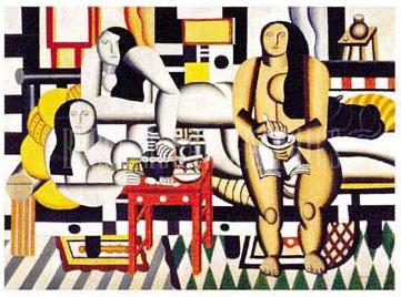 Three Women By Fernand Leger