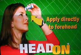 Head On - Apply directly to the forehead