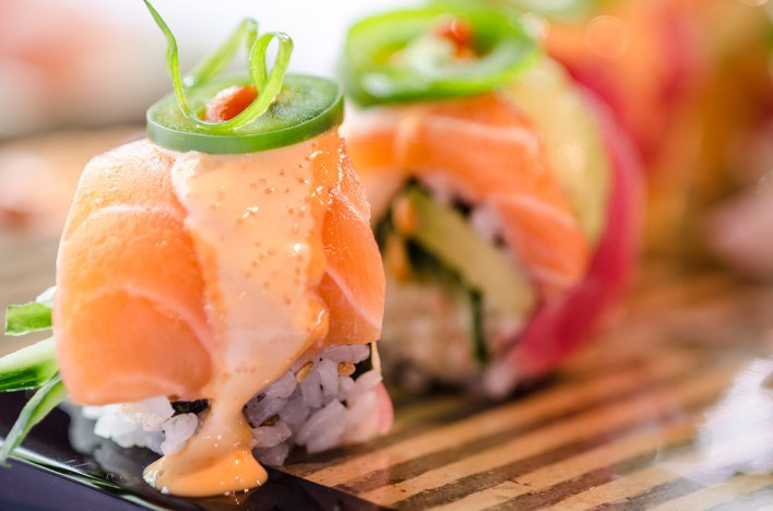 Sushi at Three's Bar and Grill