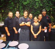 Three's catering team.