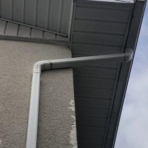 soffit and gutter downspout unique fix