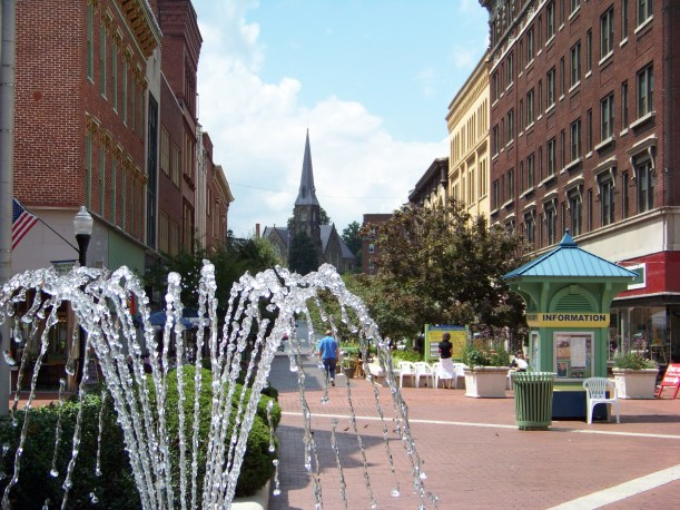 Fountain in town square Photo by Mike Hartley