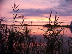 Sunset on the bay behind Ocean City Photo by Mike Hartley