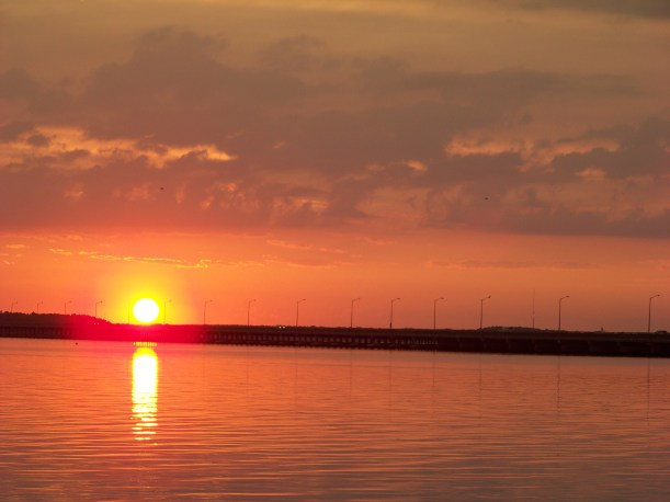 Sunset on bay in Ocean City Photo by Mike Hartley
