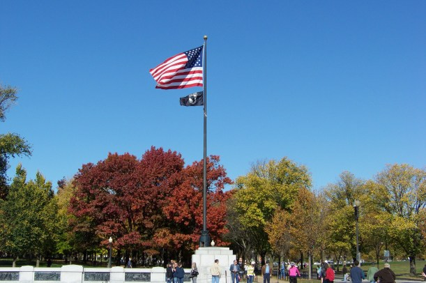 Entrance Flags to Memorial  Photo by Mike Hartley