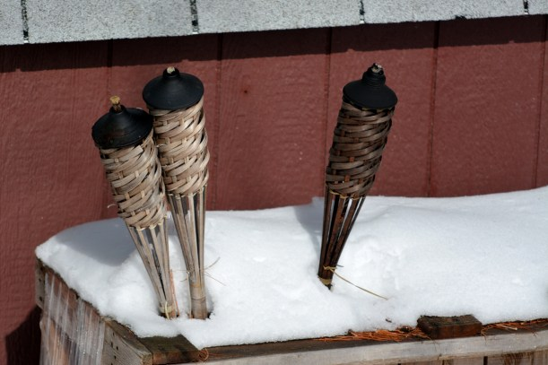 Wonder if I should fire these up to help melt the last of the snow?  Photo by Mike Hartley