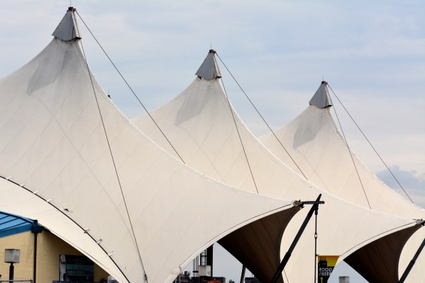 Pier 6 tent Photo by Mike Hartley