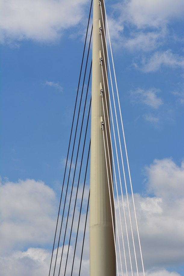 Supports over walkway. Photo by Mike Hartley
