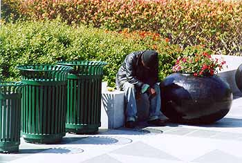 Homeless but not helpless. Photo by Mike Hartley