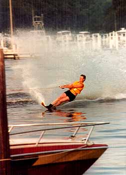 My friend Scott skiing as a youth. Photo by Mike Hartley