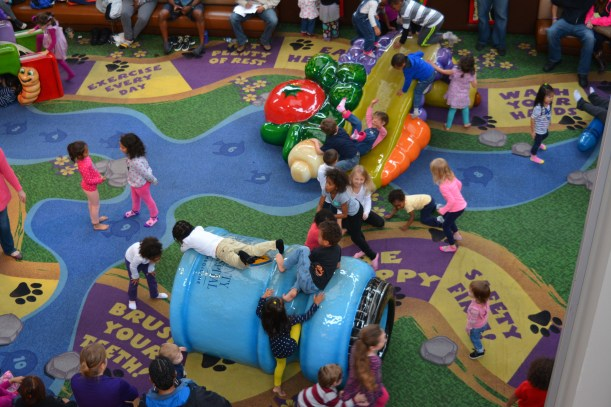 Columbia Mall play area. Photo by Mike Hartley