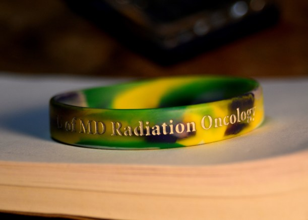 Wristband I wore during treatments the last few months. Photo by Mike Hartley