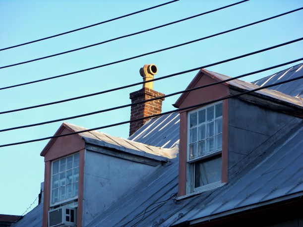 Rooftop and wires. All kinds of lines here. Photo by Mike Hartley