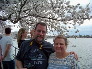 Thank you stranger for taking a minute to snap an image of a great day in DC for my better half and I. Photo by Stranger with my old digital.